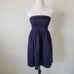Maeve Strapless Navy Blue Mini Dress